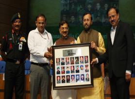 Union HRD Minister Sh. Prakash Javadekar and MoS for Defence Dr. Subhash Ramrao Bhamre